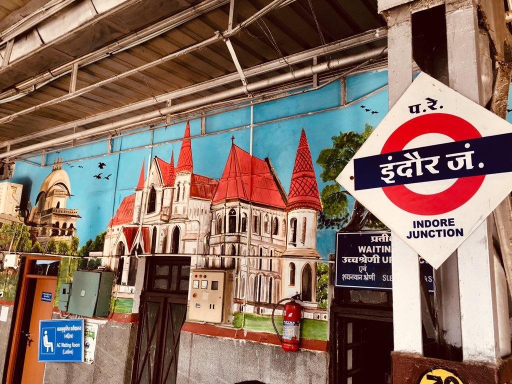Platform number 1 at Indore railway station.