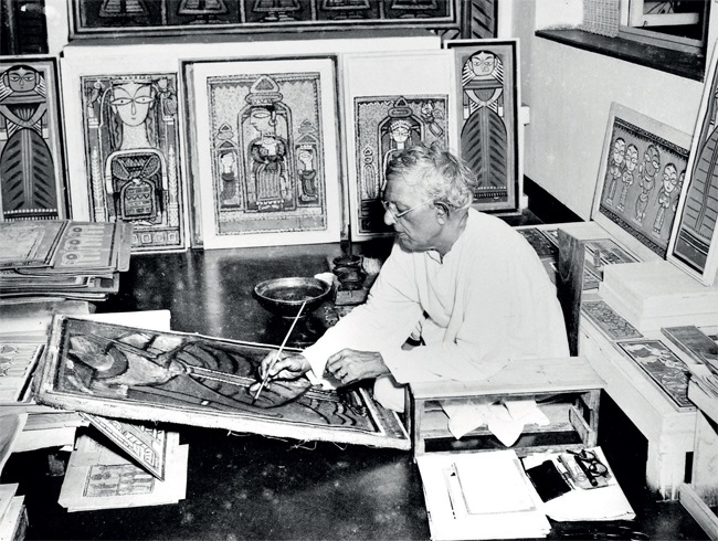 As a child I was particularly fascinated by what happened to Jamini Roy's evolution as a thinker. He was trained classically as a painter and then he had to go through this process of returning... it meant reinventing himself and coming to terms with a national identity he had abandoned before.