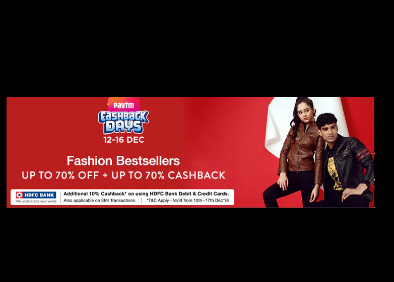 Up to 70% off+ up to 70% cashback on apparels