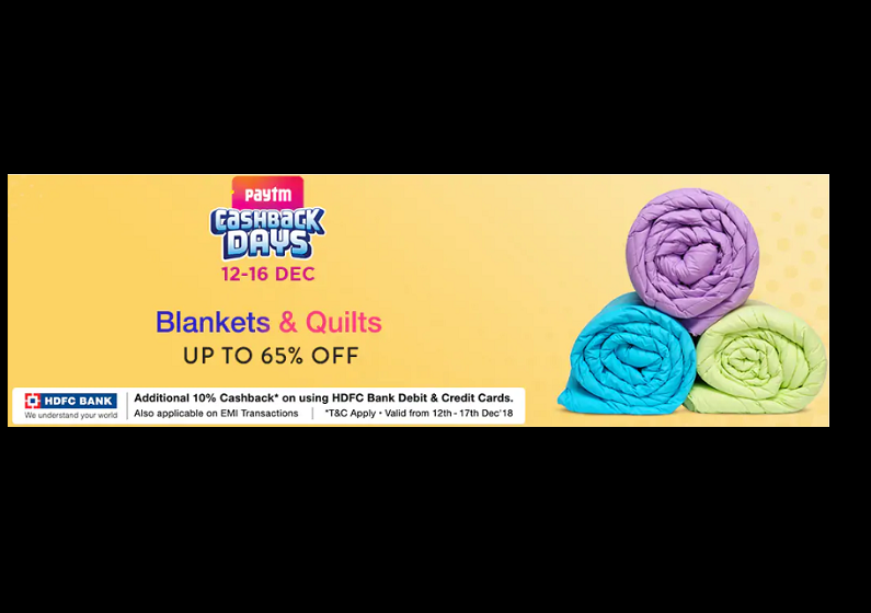 Up to 65% off on blankets and quilts