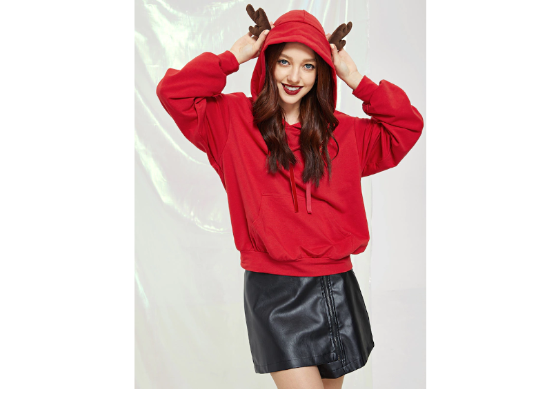 Red hoodie by Shein