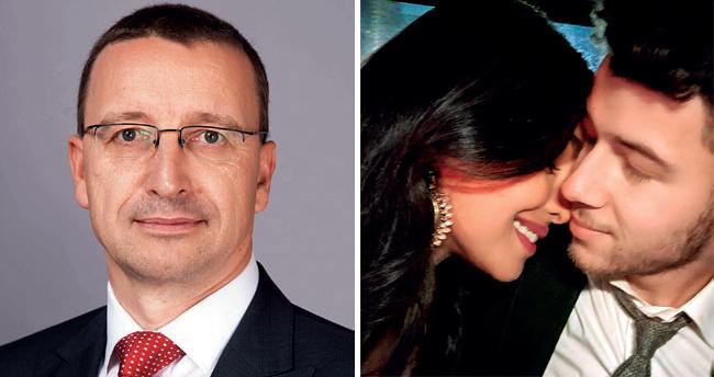 (L) Martin Schwenk; (R) Priyanka Chopra and Nick Jonas