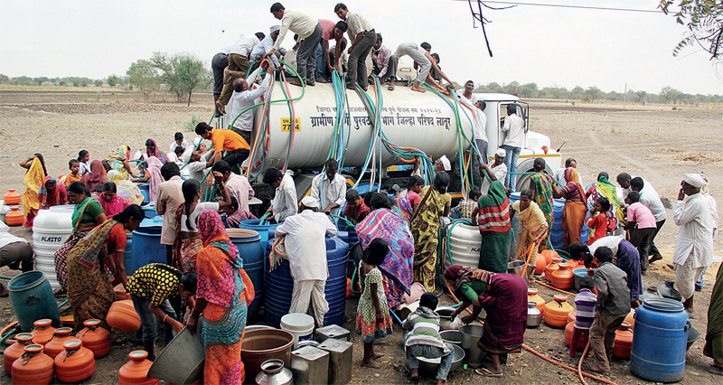 Latur, Beed and Osmanabad receive water once in 10 days