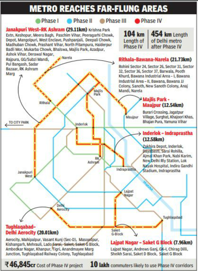 D Metro Map.Delhi Check Your Place Pop Up On Metro Map Delhi News Times Of