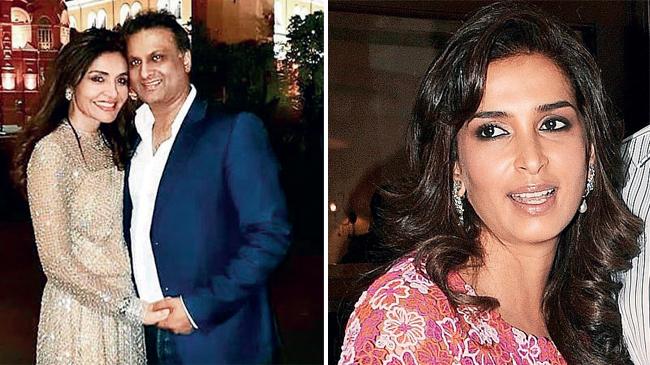 Queenie Singh and Rishi Sethia; (R) Poonam Shroff