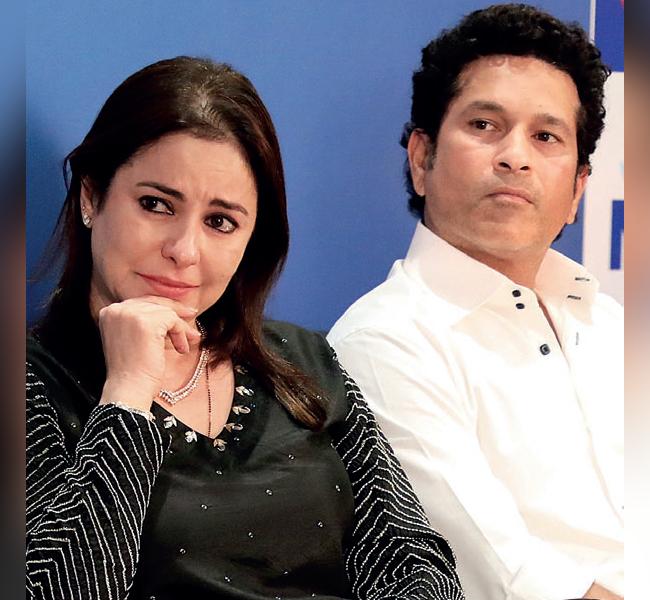 Anjali and Sachin Tendulkar