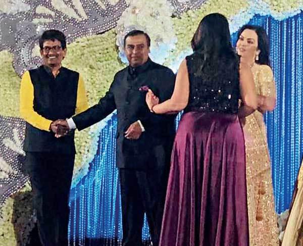 Alpesh Thakor at Ambani wedding reception in Mumbai