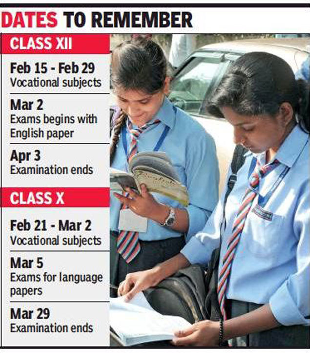 CBSE Board Exam 2019 dates: 10th exams from Feb 21, 12th