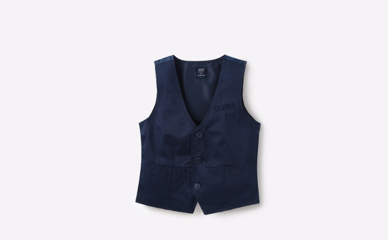 Cotton Vest with Welt Pockets