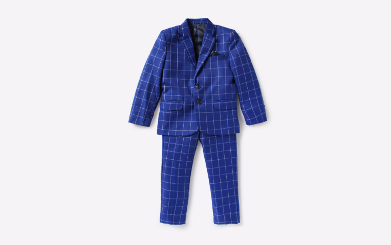 Checked Trousers & Blazer Suit Set