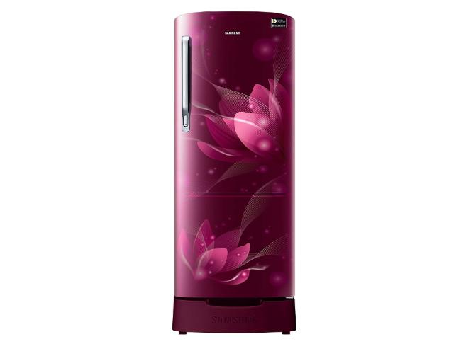 Samsung Direct Cool Single Door Refrigerator (RR20N182YR8/HL/RR20N282YR8/NL, Blooming Saffron Red)