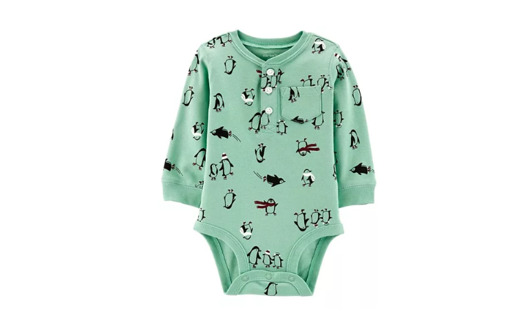 Carter's Full Sleeves Penguin Collectible Bodysuit