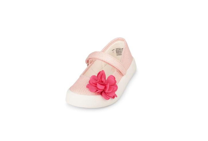 Pink Floral Ballerinas (12-15 months)