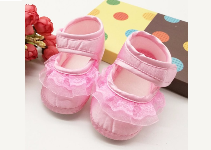 Satin Pink Soft Baby Booties (0-6 months)