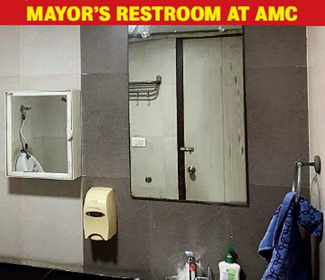 Mayor's restroom is spick and span (Pics: JIGNESH VORA)