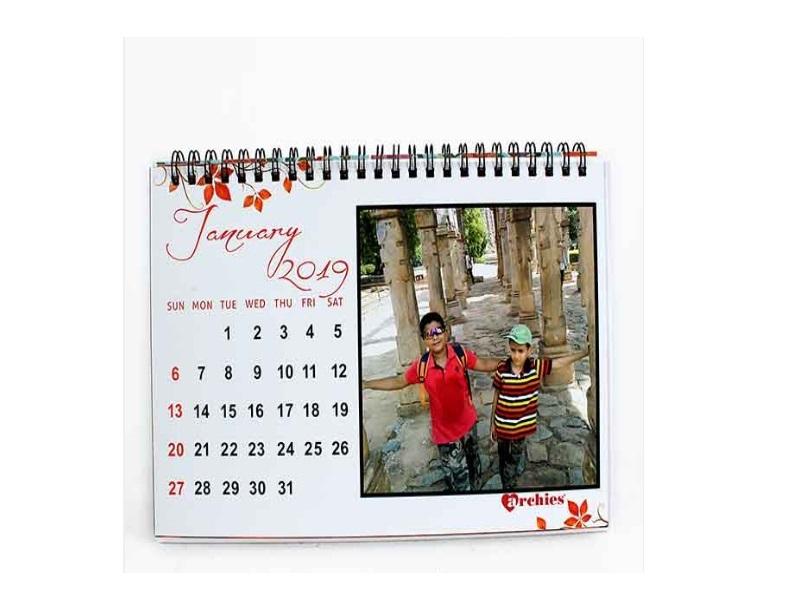 Personalized photo calendar 2019