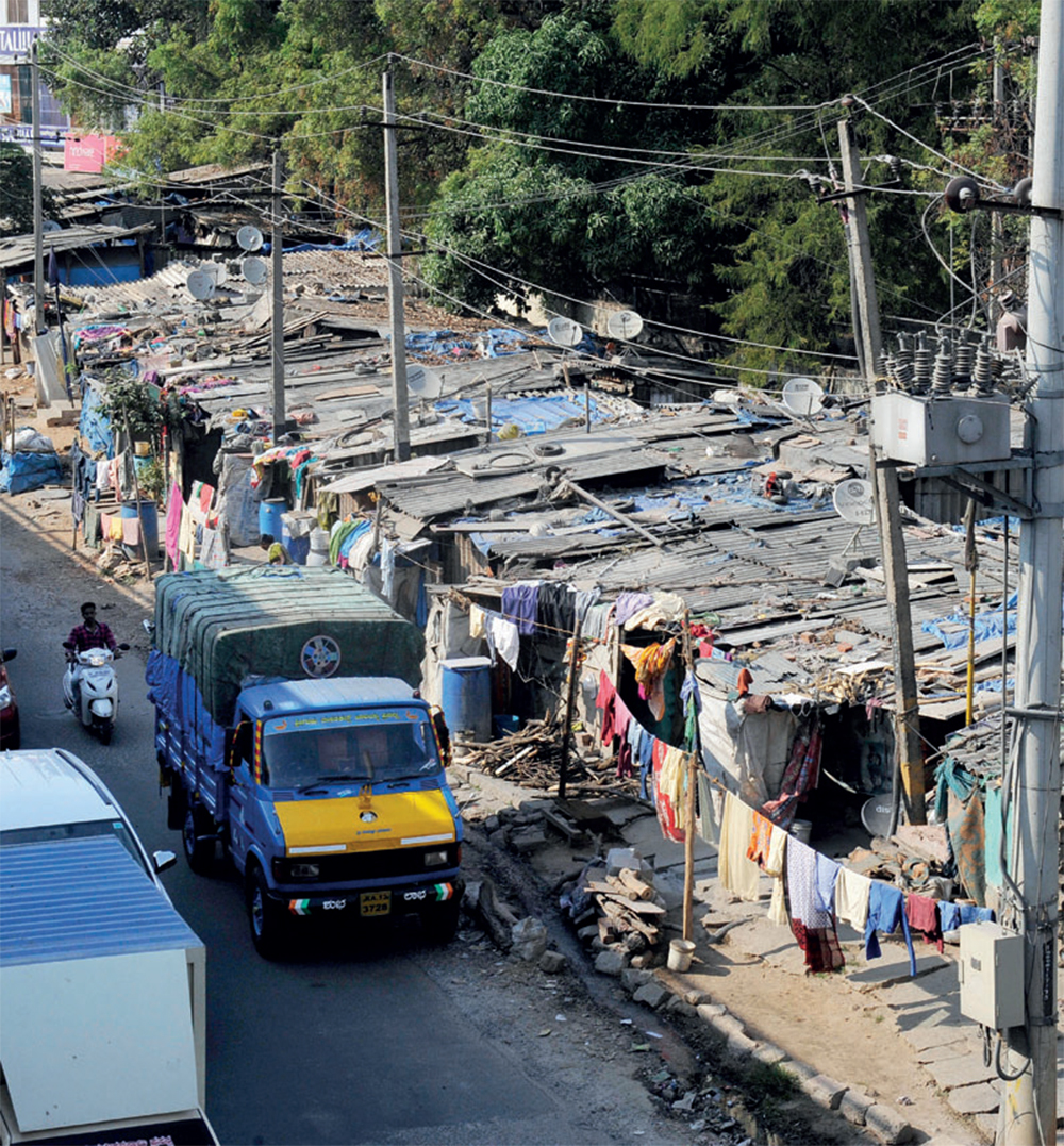 Three acres were reserved for a civic amenity site in 1976 in Hosakerehalli. In 2005, this slum which came up on part of the land was notified as a slum area.