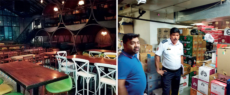 The rooftop restaurant that has been shut down at TBSE; a fire official during the inspection on Sunday