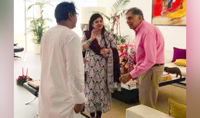 Raj and Sharmila Thackeray with Ratan Tata