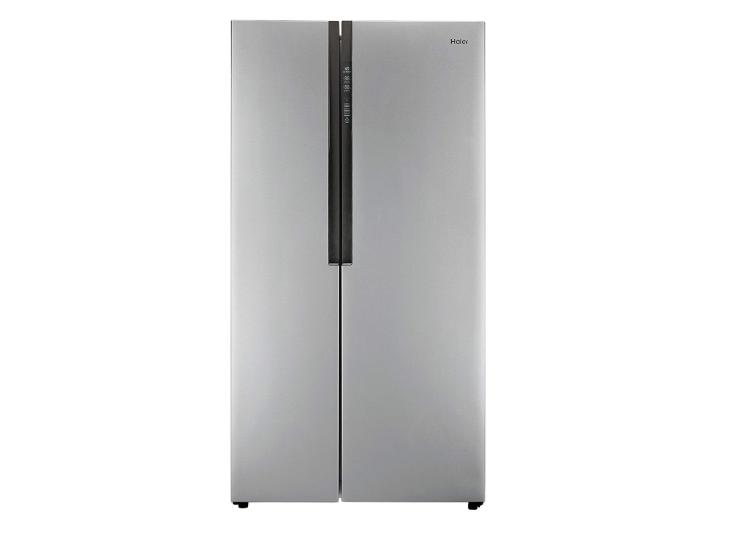 Haier HRF 618 SS Frost-free Side-by-Side Refrigerator (565 L, Grey)