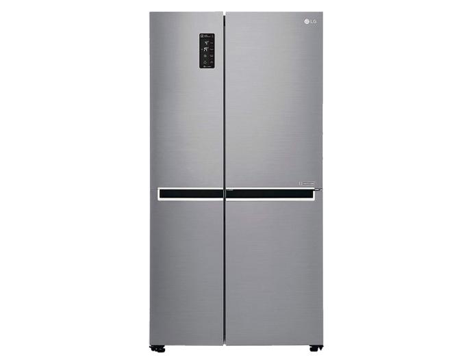 LG 687 L Frost Free Side-by-Side Refrigerator (GC-B247SLUV.APZQEBN, Platinum Silver)