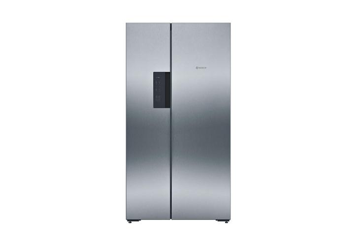 Bosch 661 L Frost Free Side-by-Side Refrigerator (KAN92VI35I, Stainless Steel, Inverter Compressor)