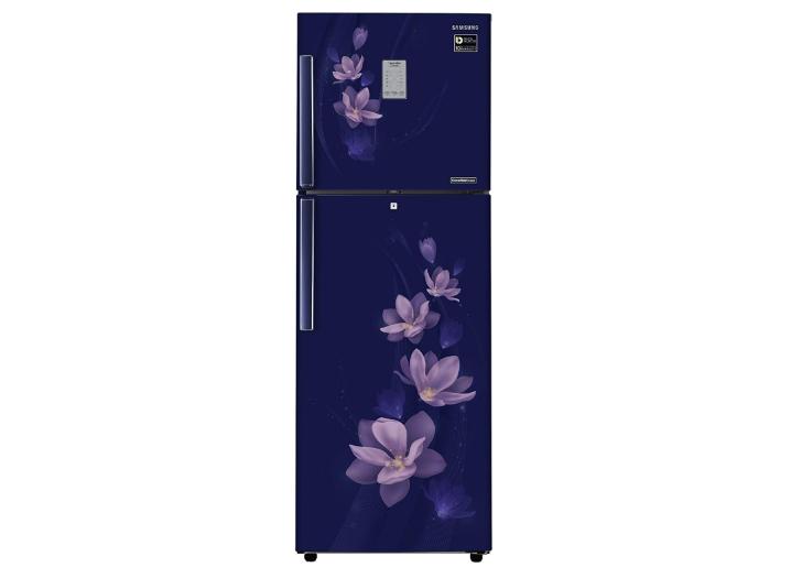 Samsung 321 L 4 Star Frost Free Double Door Refrigerator (RT34M3954U7/HL, Magnolia Blue, Convertible, Inverter Compressor)