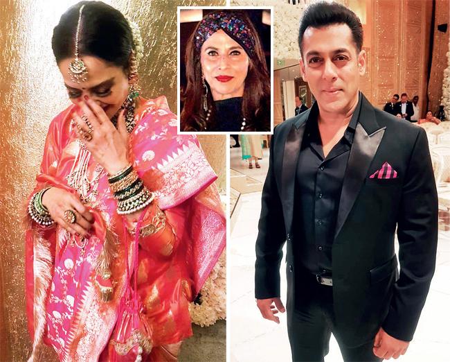 02-04Rekha and Salman Khan, shot by De; (inset) Shobhaa De