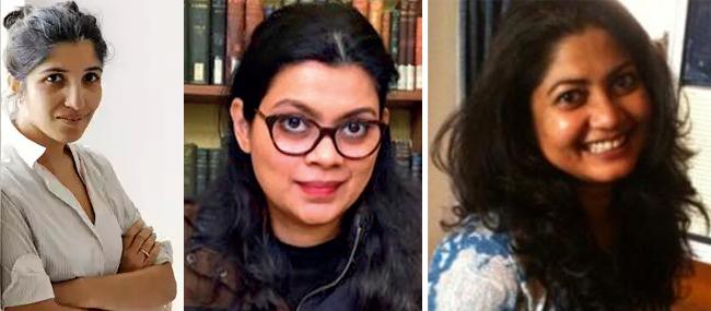 LtoR: Chiki Sarkar, Meru Gokhale, Diya Kar