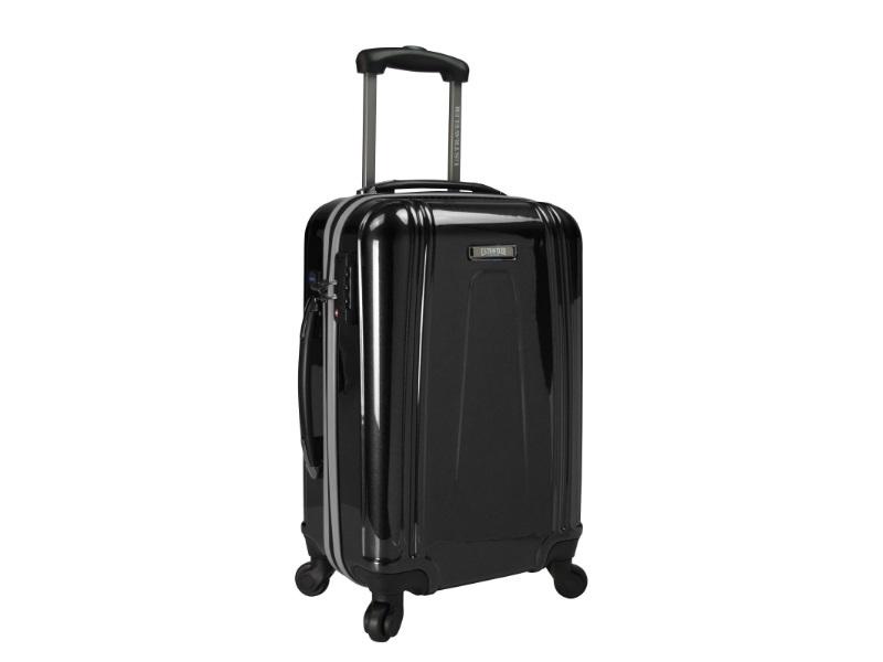 U.S. Traveler Lightweight Hardside Carry-On Spinner USB Suitcase