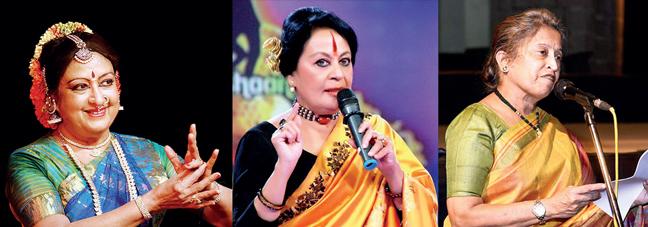 Padma Subrahmanyam, Sonal Mansingh and Shama Bhate