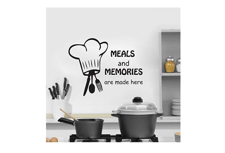Wall stickers with food quotes