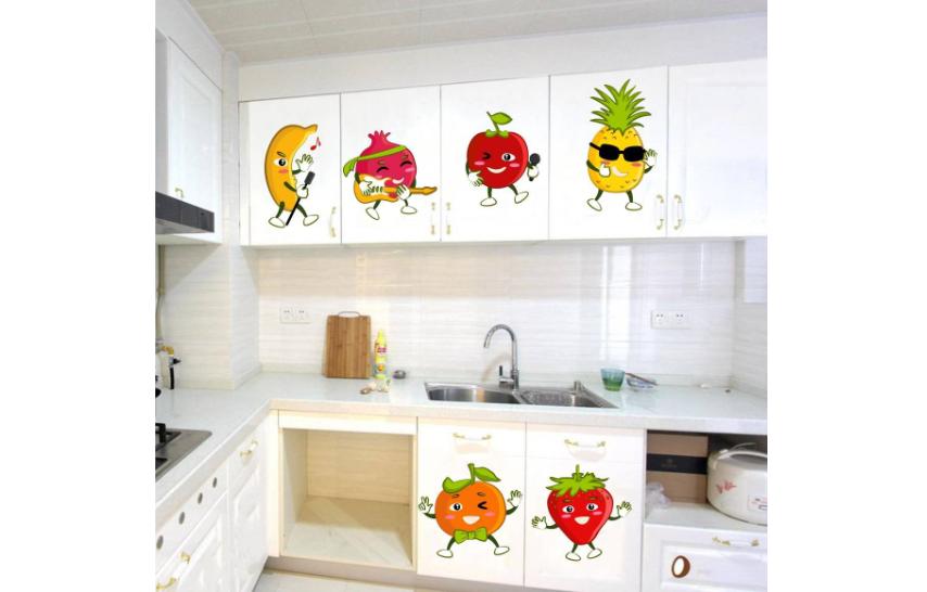 Fruits Cartoon Wall Sticker