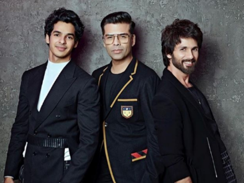 Ishaan and Shahid with KJo. Photo: Instagram/@karanjohar