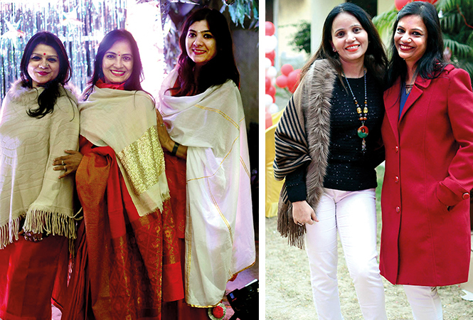 (L) Kavita, Shalini and Rama (R) Rati and Shalini (BCCL/ Pankaj Singh)