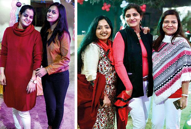 (L) Shalini and Sneha (R) Shikha, Sheli and Reena (BCCL/ Pankaj Singh)