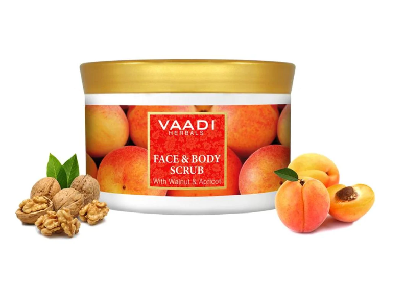 Vaadi Herbals Face And Body Scrub With Walnut And Apricot