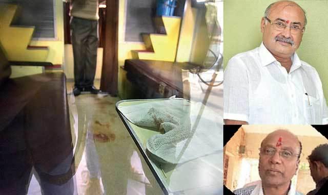 cops recover 2 empty bullet casings; (Right top) Jayanti Bhanushali (right below) Chabbil Patel