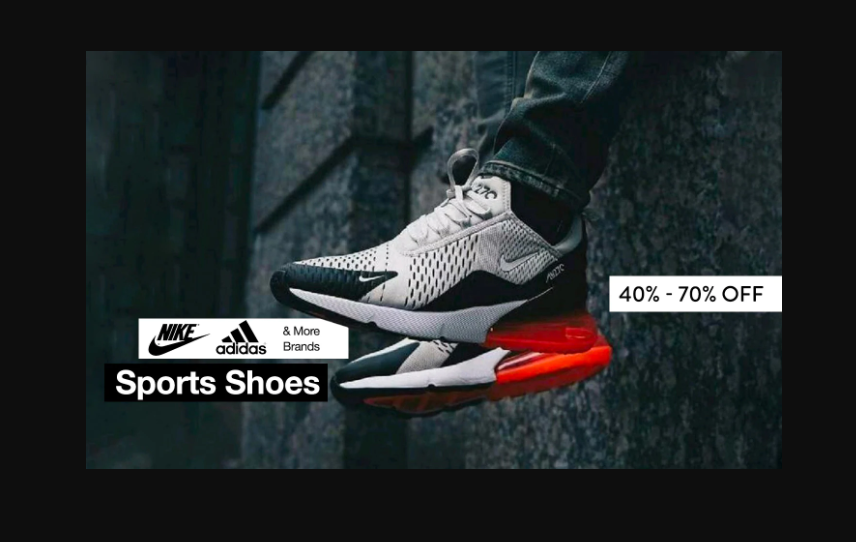 Sports shoes at upto 70% off