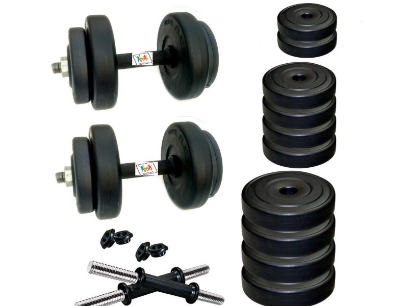 BodyFit Adjustable Dumbbells Set Combo- For both beginners and intermediates