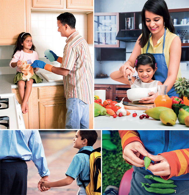 Involving children in kitchen-related chores will get them more interested in food; Poor infrastructure and safety issues may prevent children from walking or cycling to school, but making them walk even the last 500 metres to school is good for them; Take your children to a farm so they can understand where food comes from