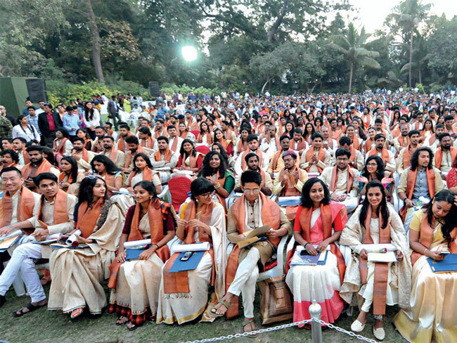 Graduating students at NID's 39th convocation on Friday