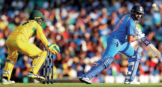 Rohit Sharma during one of the One Day International series between Australia and India at Sydney