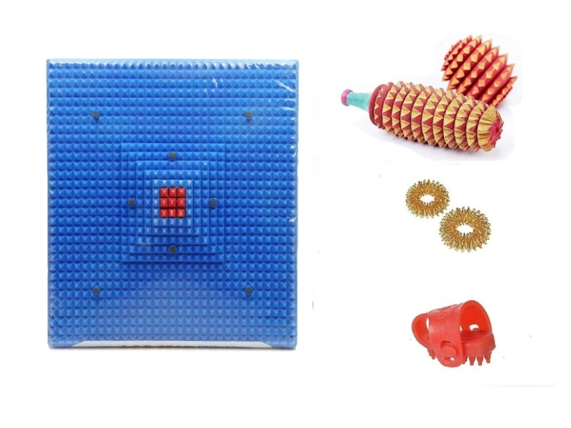 ACS Acupressure Deluxe Mat For Pain Relief Combo Kit