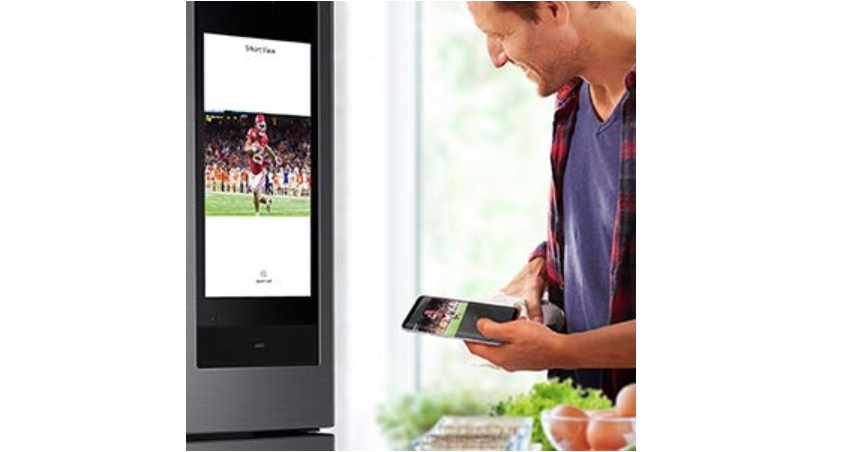 Be entertained while cooking with videos and music