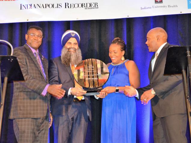 January 19 2019 - Gurinder Singh Khalsa while receiving the award