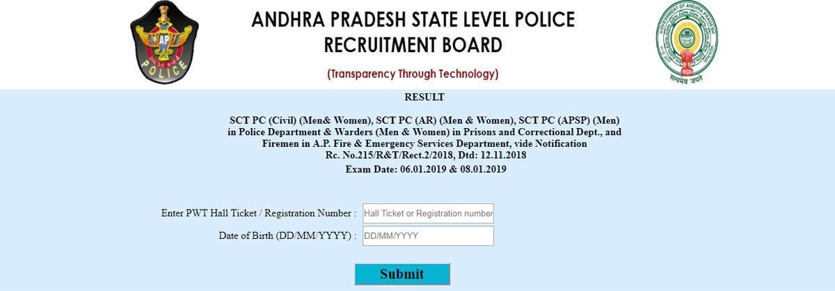 AP Police constable exam results 2019 declared