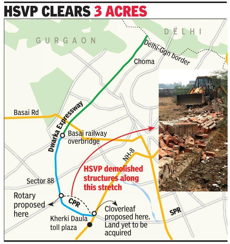 Structures on CPR razed, NHAI to get land next month