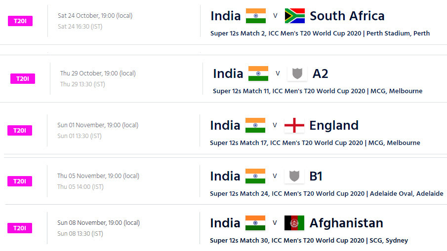 T20 World Cup 2020 schedule: ICC announces fixtures for men's and