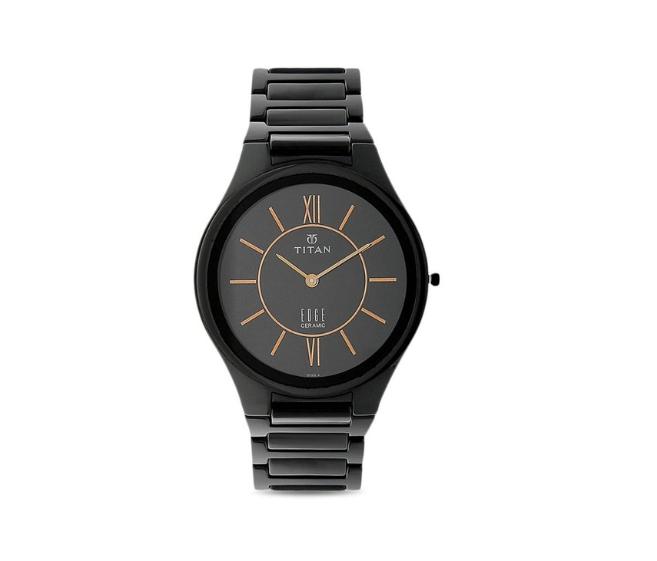 Titan 1696NC01 Edge Ceramic Analog Watch for Men